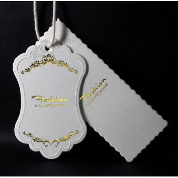 Fashion Gold Foil Clothing Hang Tags Wholesale