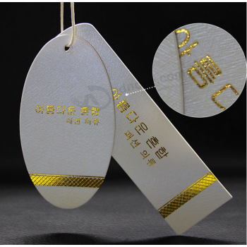 Garment Paper Hang Tag Gold Foil Swing Tag Factory