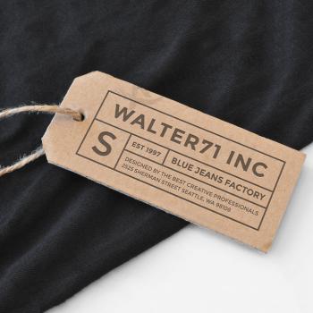 Factory Wholesale Custom Hangtag Kraft Paper Jeans Hangtag