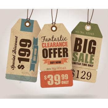 Garment Hang Tag Paper Clothing Price Tag Wholesale