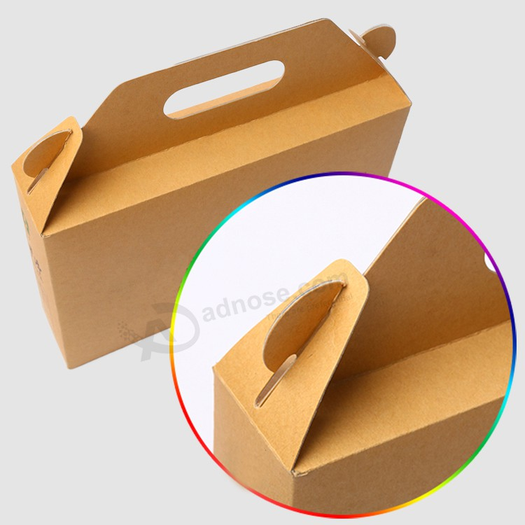Paper Bag Book Cover With Handles : Kraft paper gift box custom corrugated with handle