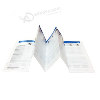 Offset Paper Product Instruction Folding/Brochure Printing