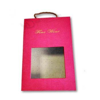Luxury Customized Wine Folding Packaging Box Paper Box