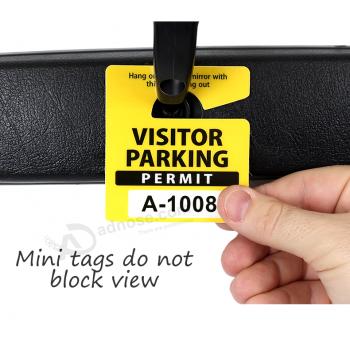 Custom Car Hang Tags Small Size Hanging Parking Tags