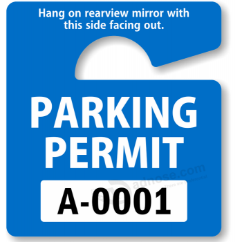 Fashion Writable Blue Hang Tag Parking Permits for Sale