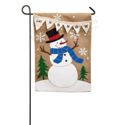 Let It Snow Garden Flag Or Cheap Price Customized Christmas Garden Flags