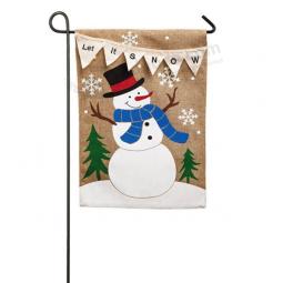 Let It Snow Garden Flag Or Cheap Price Customized Christmas Garden Flags