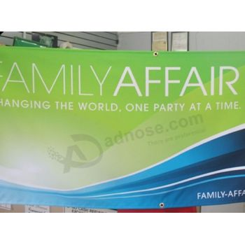 Durable quality vertical / horizontal hanging banner