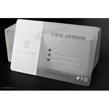 Wholesale custom frosted transparent business cards pvc plastic card wholesale custom frosted transparent business cards pvc plastic card colourmoves Gallery