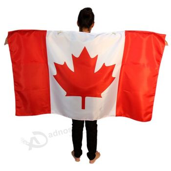 Hot selling environmental printing red maple Canadian large custom body arm flags