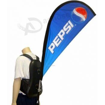 Advertisement flag backpacks angel wing flag backpack led x banner