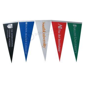 High quality triangle indoor decoration banner custom printing felt flag