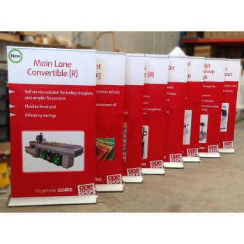 Professional Retractable Banner Stand with Banner Printed