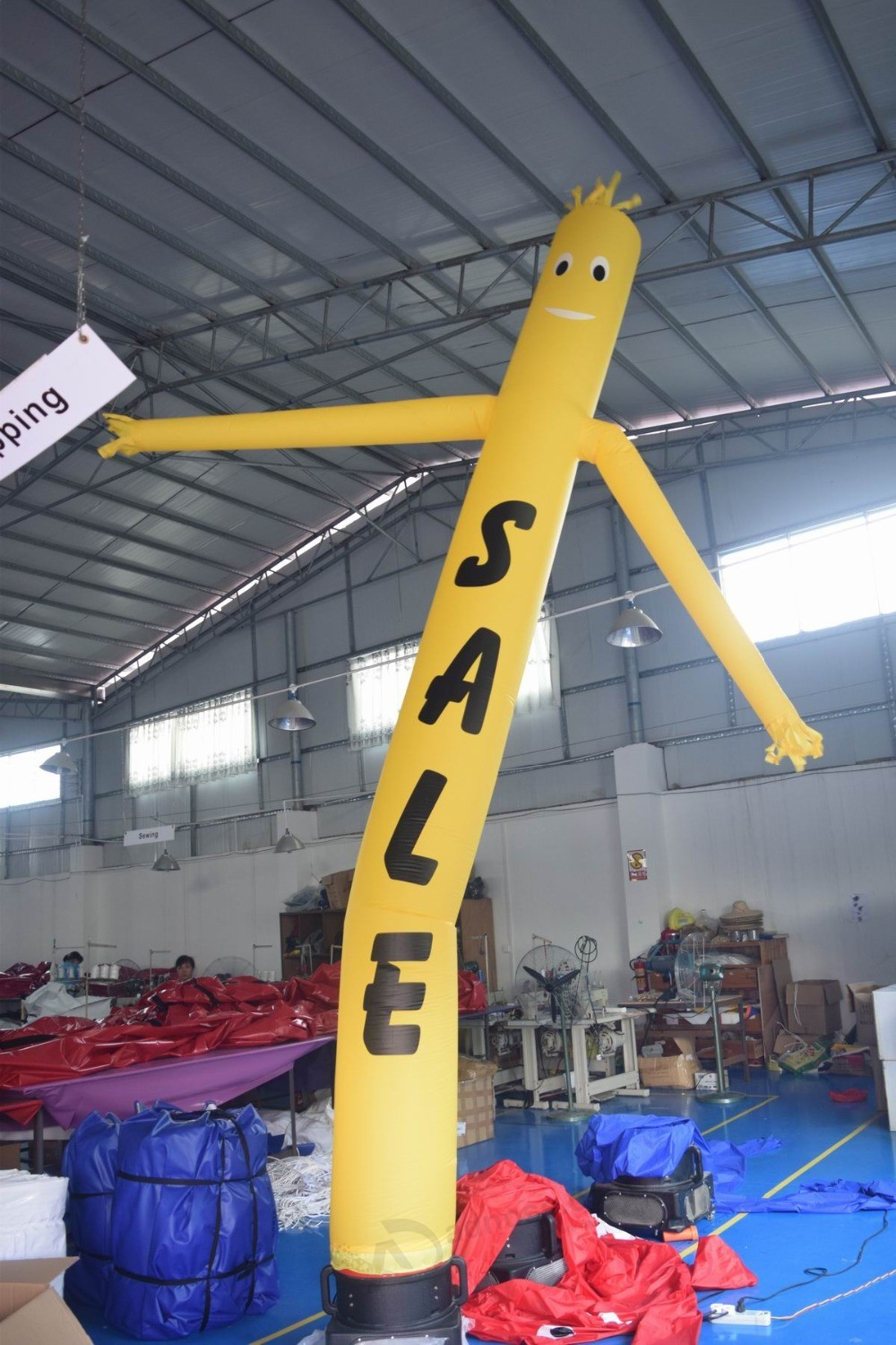 Yellow Color Inflatable Air Dancer Sky Puppet With Sale