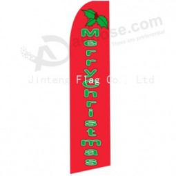 High-end custom 322x75 Merry Christmas swooper flag