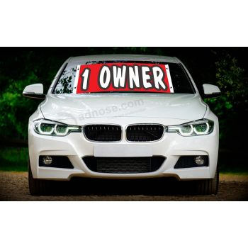 Factory wholesale custom BMW windshield banners 1 0WNER