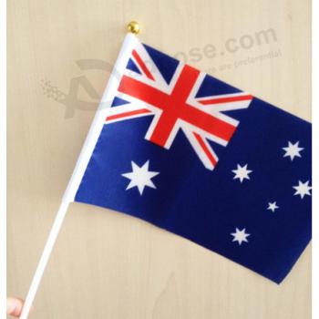Hand Flag Australia with Hand Flag Pole Wholesale