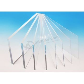 Wholesale acrylic sheet transparent/clear plastic sheet display board by laser cutting