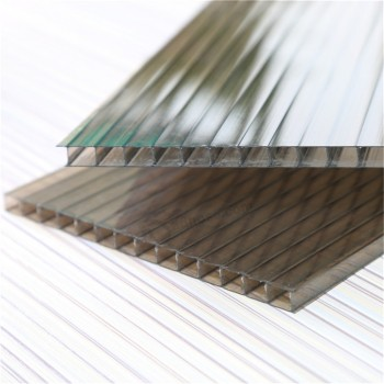 Construction materials strong fire resistance pc hollow core plastic sheets / polycarbonate board