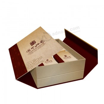 Custom Book Style Paper Tea Box Gift Box with Logo Brand