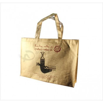 Gold PP Laminated Non-Woven Shopping Bags for Garments (FLN-9065)