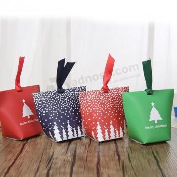 Fancy Printing Christmas Paper Gift Box, Folding Paper Gift Packaging Box, Christmas Candy Box