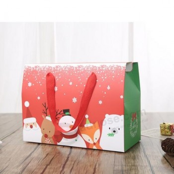 Factory Direct Sale Exquisite Paper Christmas Hand Gift Box, Wholesale Christmas Gift Box