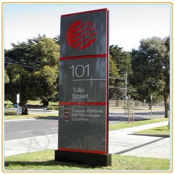 Factory direct sale top high quality Outdoor Way Finding Directional Sign/Free Standing Sign Board