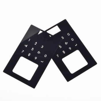 Factory Made Acrylic Front Panel for Smart Lock Wholesale