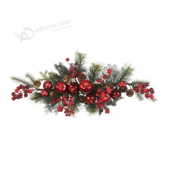 Wholesale 30inch Artificial Christmas Decoration Swag with Stunning Apple and Cherry (MY205.445.00)