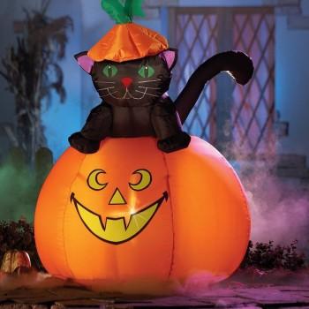 Wholesale Halloween Party Decoration Inflatable Black Cat