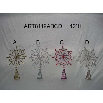 Wholesale Merry Christmas Tree Top Decoration Giftcrafts-4asst