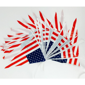 High Quality Triangle USA Bunting Flag Wholesale