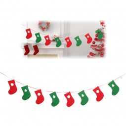 Customized christmas decorative non-woven bunting flags on string