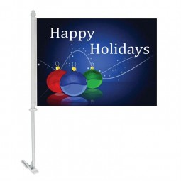 Wholesale Customized high-end christmas flags Polyester Blank Car Window Flags