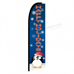Wholesale high quality Colourful flying christmas flags for advertising