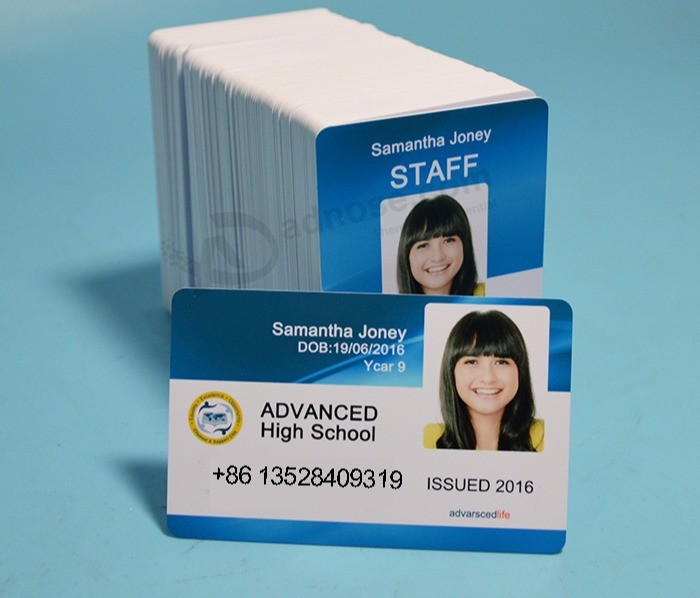 Plastic Glossy Pvc Business Student Photo Blank Id Cards