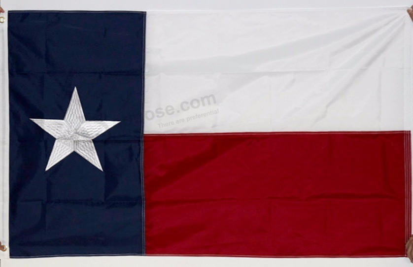 American Texas 3x5ft Embroidery Stars Hanging Flying Flag