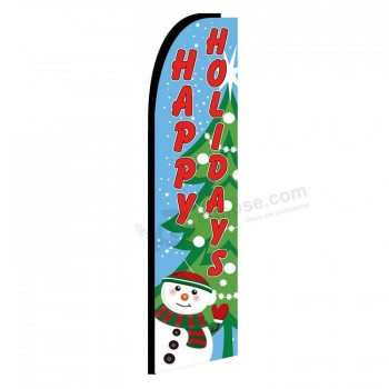 wholesale colourful flying christmas flags feather flag for advertising christmas decorations - Wholesale Christmas Decorations Suppliers