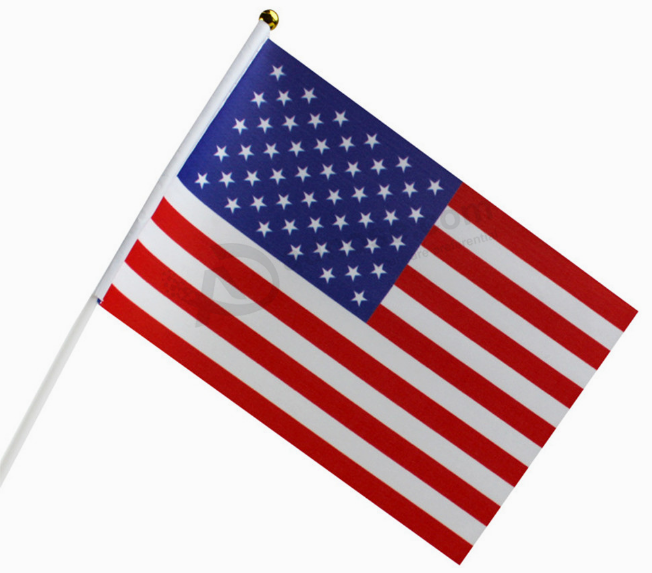 Knitted Polyester Hand Held American Flags Wholesale Buy